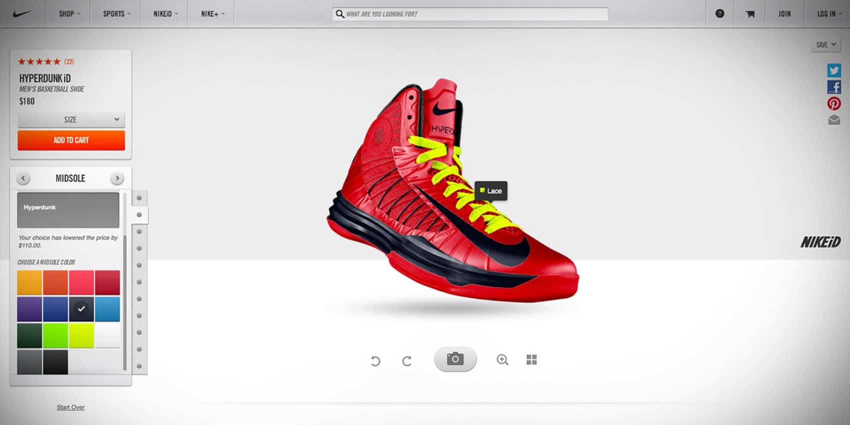 NIKE utilise la réalité augmentée pour personnaliser nos sneakers