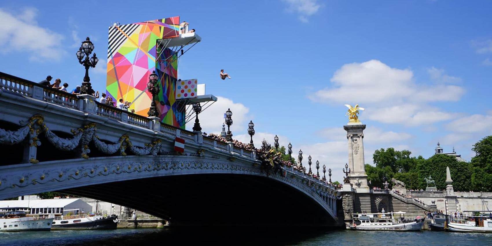 Paris un plongeoir olympique signé Okuda