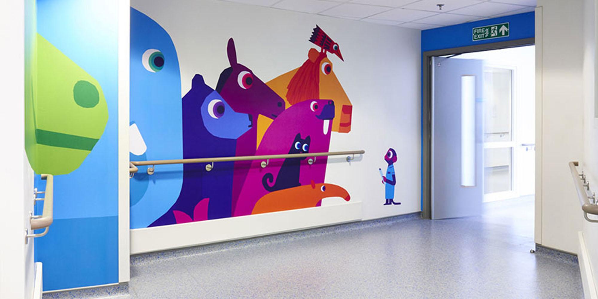 hôpital de Cardiff Décor mural impression numérique