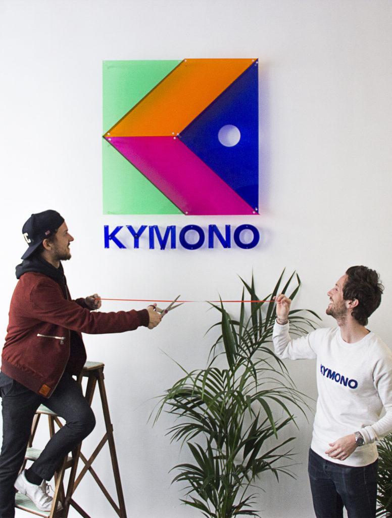 L'artiste plasticien Pierre Brault (à gauche) et Olivier Ramel, Pdg et co-fondateur de la start-up Kymono