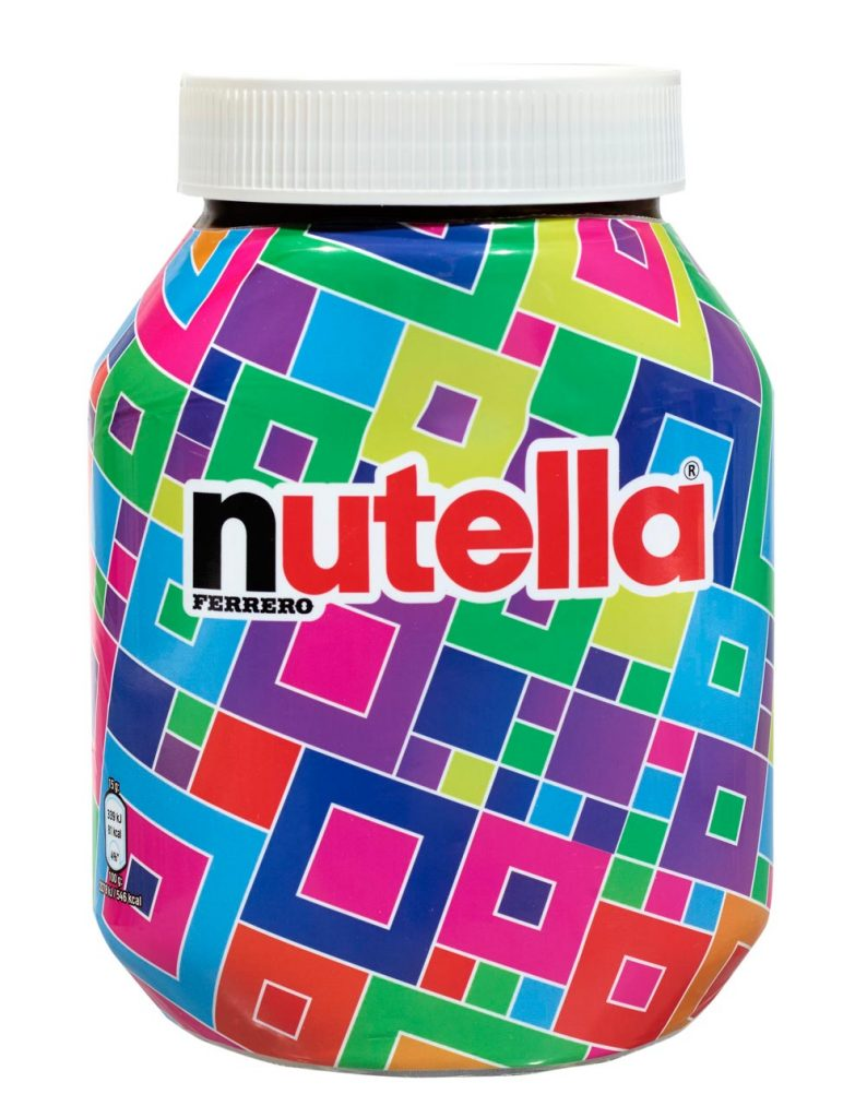 Packaging personnalisation Nutella