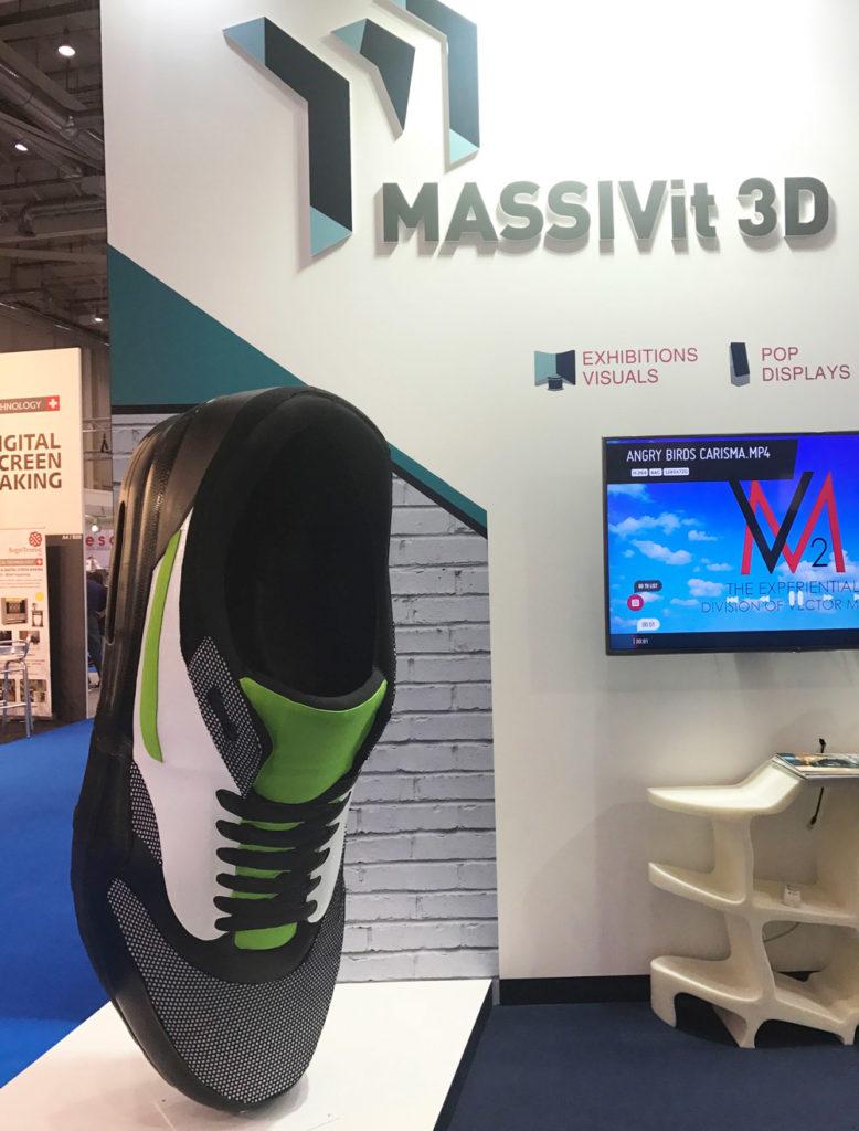 Impresssion 3D d'une chaussure par Massivit