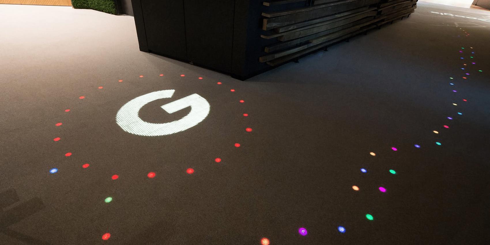 Moquette personnalisée lumineuse chez Google