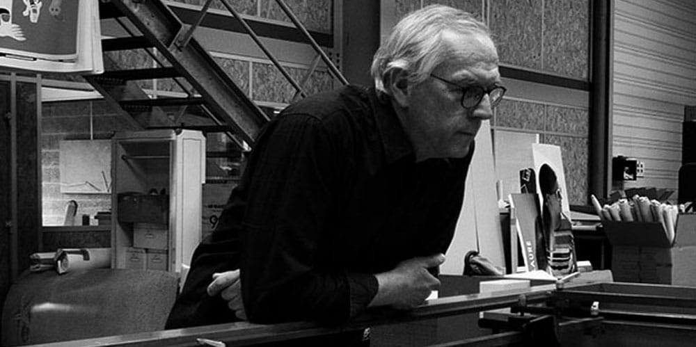 Jean-Yves Grandidier, fondateur de l'atelier de sérigraphie Lézard Graphique,