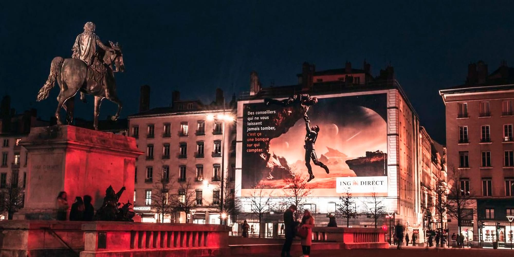 Publicité grand format ING Direct Bellecour Lyon