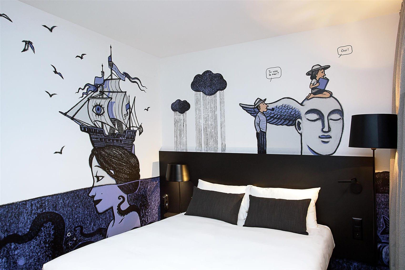 Décoration hôtel : décoration impression murale