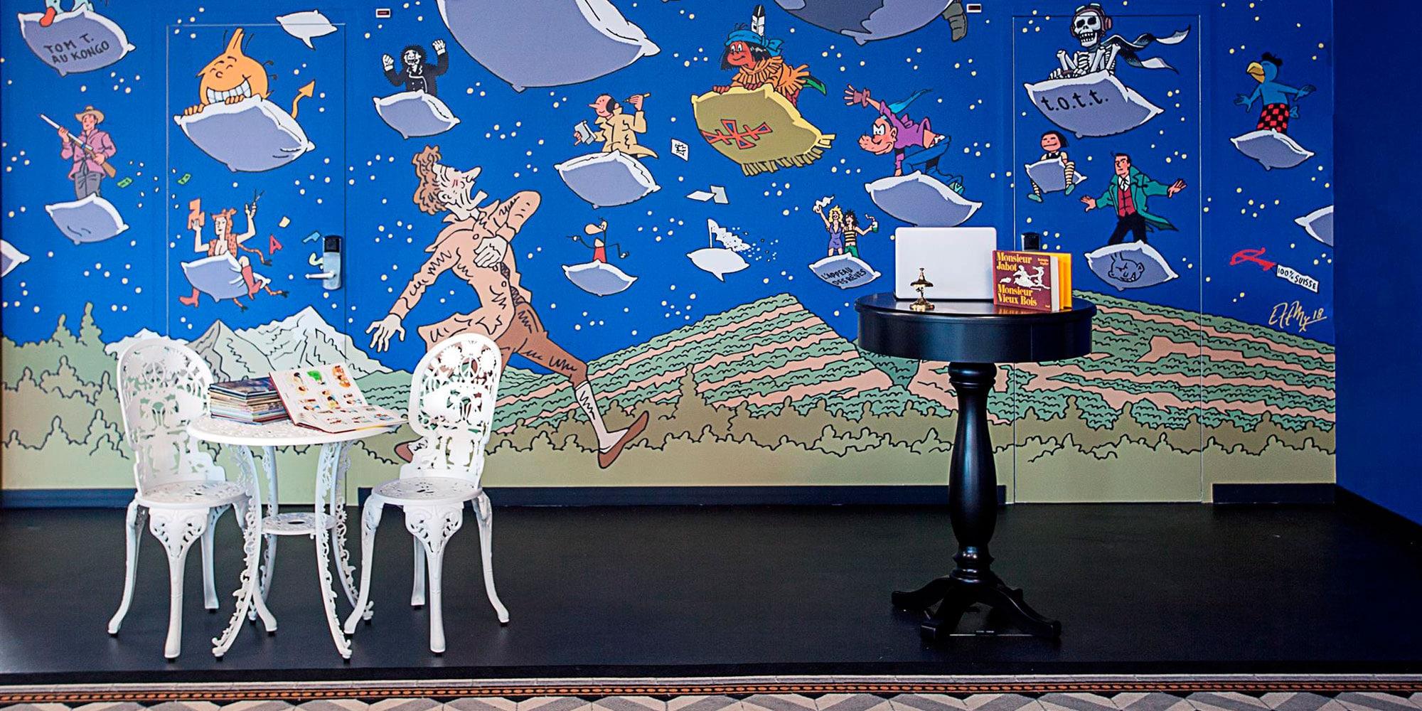 Décoration hôtel Ibis impression murale