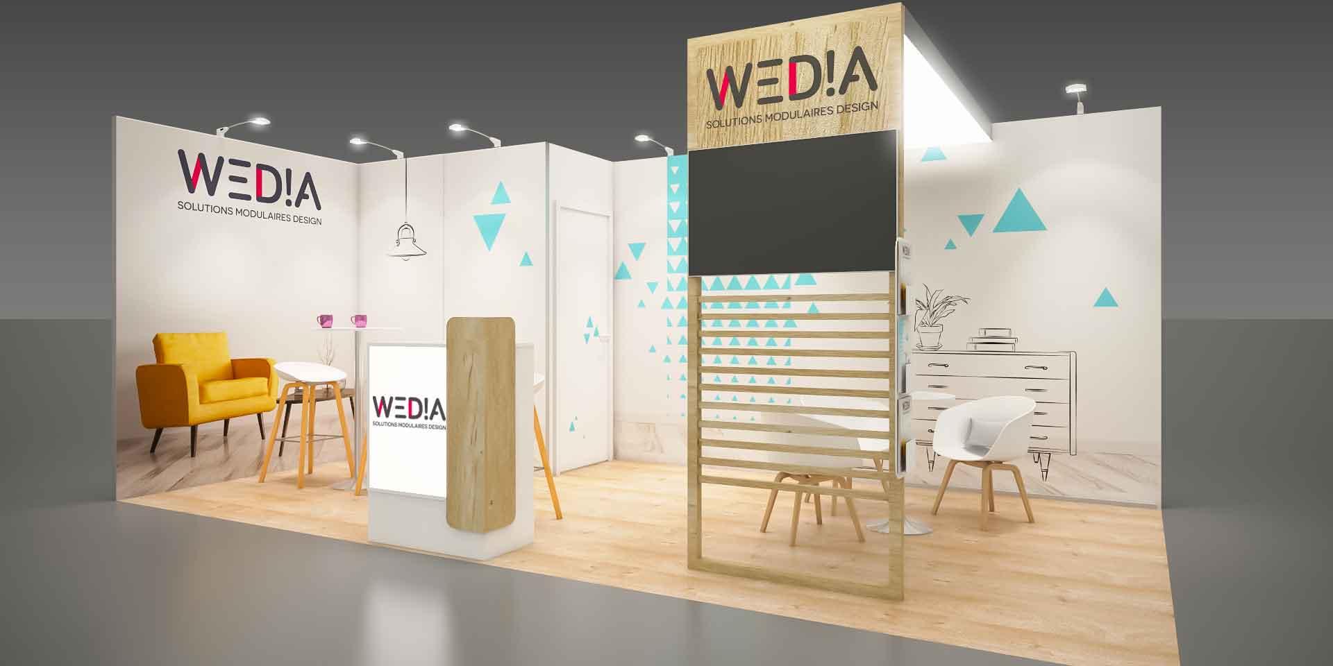 Le standiste Media Product crée le concept « Wedia »