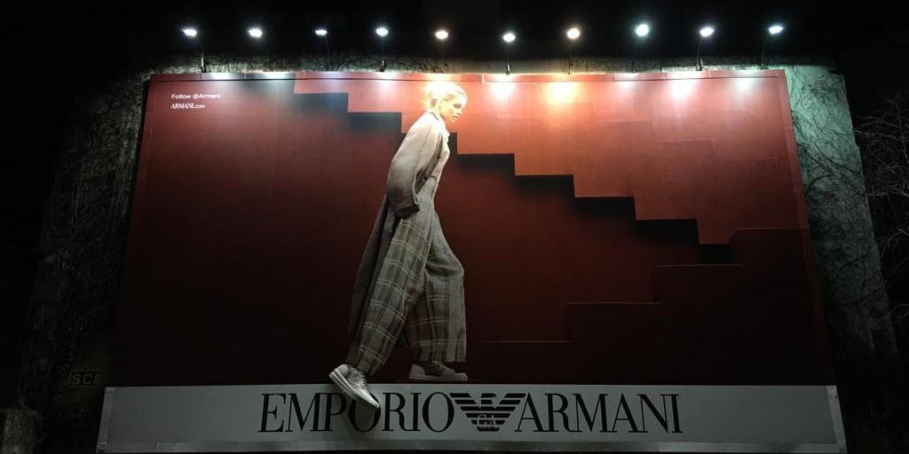 Affichage 3D Emporio Armani