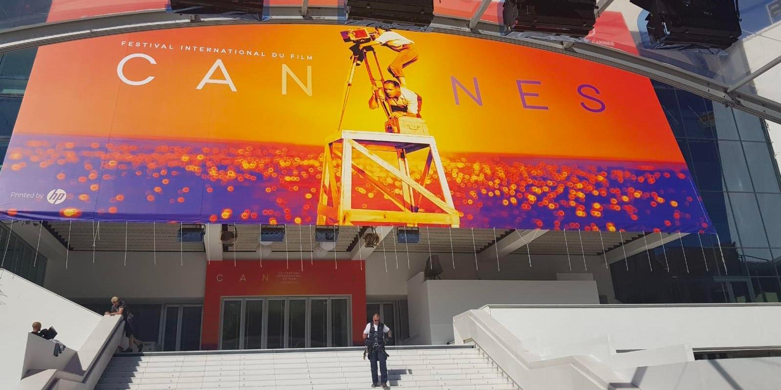 La sociéte H2O Pub a imprimé l'affiche monumentale du festival de Cannes 2019.